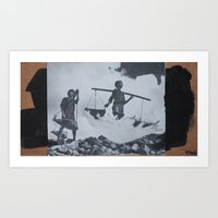 boys Art Prints featuring boys by Marisabel Lavastida