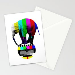 screen adjustment, elephant, circus Stationery Cards
