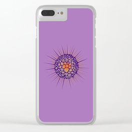 funky sea ​​urchin with heart Clear iPhone Case