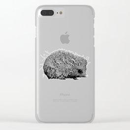 Leaf Hedgehog Clear iPhone Case