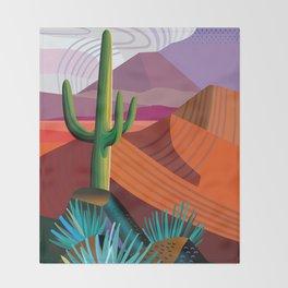 Thunderhead Builds in Arizona Desert Throw Blanket