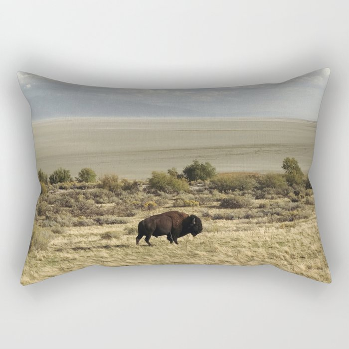 The Buffalo Bison Rectangular Pillow