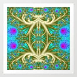 """Alternate Peacock"" Surreal Fractal Art Art Print"