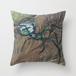 Orchard Orb Weaver Throw Pillow