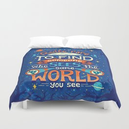 Same World Duvet Cover