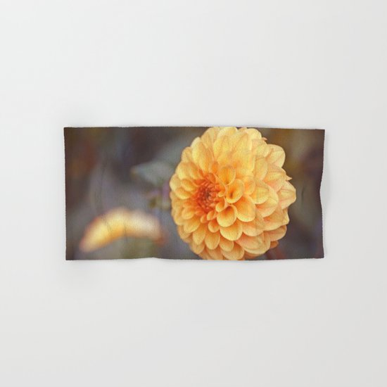 Shiny Yellow Sweet Pixie Dahlia Hand & Bath Towel