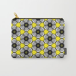 Yellow and Black Flowers Carry-All Pouch