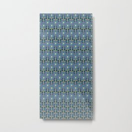 Colorfull Ikat Blue Metal Print