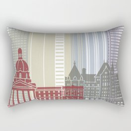 Edmonton skyline poster Rectangular Pillow