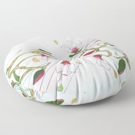 Flowers with violin Floor Pillow