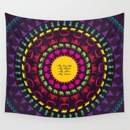 My India.  Wall Tapestry