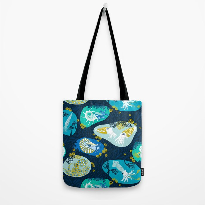 Cephalopods through time Tote Bag