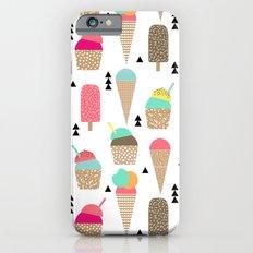 Ice Cream tropical summer spring central park new york city geometric food sweet treat dessert Slim Case iPhone 6s