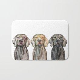 Triple Hunting Dogs Bath Mat