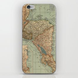 Vintage Map of Central America (1902) iPhone Skin