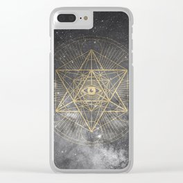 cosmic consciousness Clear iPhone Case