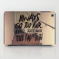 camus iPad Cases featuring Camus on Finding the Truth by Josh LaFayette
