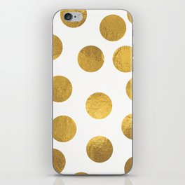 Gold Foil Polka Dots iPhone Skin