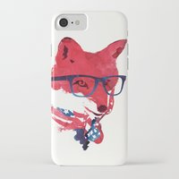 american iPhone & iPod Cases featuring American Fox by Robert Farkas