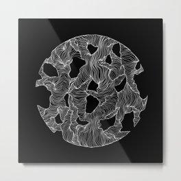 Inverted Reticulate Metal Print