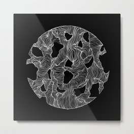 Inverted Reticulate Metal Print