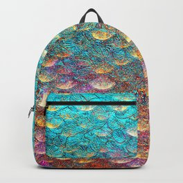 Aqua and Gold Mermaid Scales Backpack