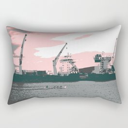 harbor rowing Rectangular Pillow
