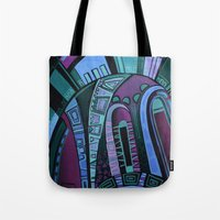 neon Tote Bags featuring NEON by Deyana Deco