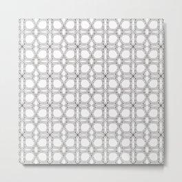 Poplar wood fibre walls electron microscopy pattern Metal Print