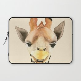 Giraffe portrait Laptop Sleeve