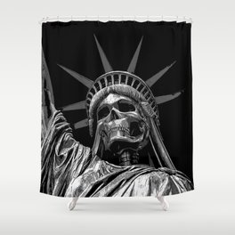 Liberty or Death B&W Shower Curtain