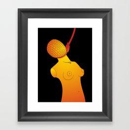 Hanged Ladies Orange Framed Art Print