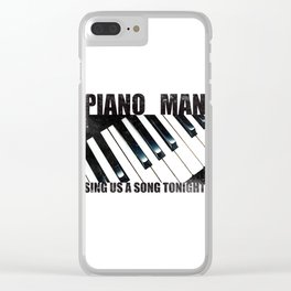 Piano Man Clear iPhone Case
