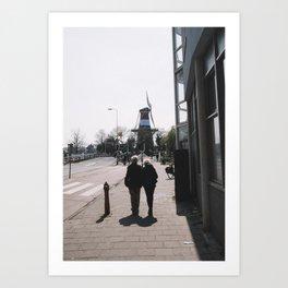 Windmill (Leiden, The Netherlands) Art Print