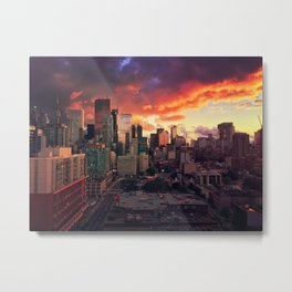 fire clouds Metal Print