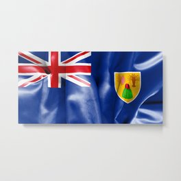 Turks and Caicos Islands Flag Metal Print