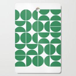 Mid Century Modern Geometric 04 Green Cutting Board