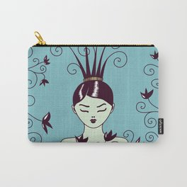 Strange Hair And Flowery Swirls Carry-All Pouch