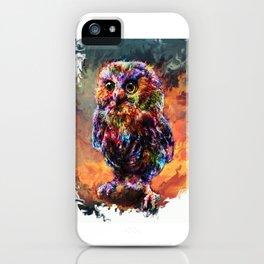 brave little owl iPhone Case
