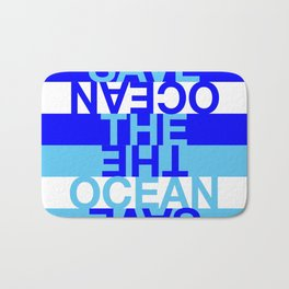 Save the Ocean Bath Mat