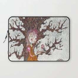 Robin in the Rain Laptop Sleeve