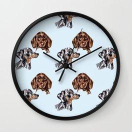 Sausage Puppies Wall Clock