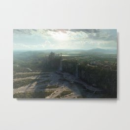 street horizon Star Wars Naboo render digital artwork plants shadow science fiction landscape CGI Metal Print