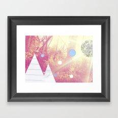 A study of woodland light Framed Art Print