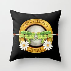 Super Soakers n Daisies Throw Pillow