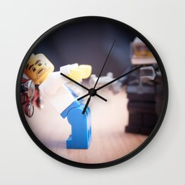 Caught Yellow Handed Wall Clock