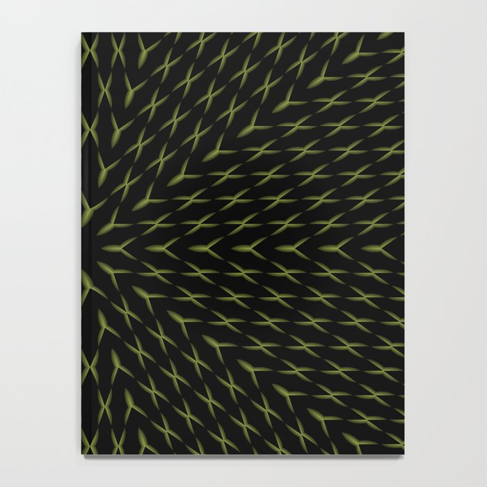PCT2 Fractal in Yellow on Black Notebook
