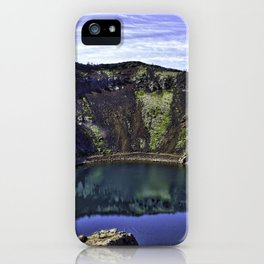 Kerid Crater Lake in Iceland iPhone Case