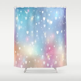 Heart Colorful Design Shower Curtain