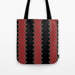 Elegant wavy pink stripes on black Tote Bag